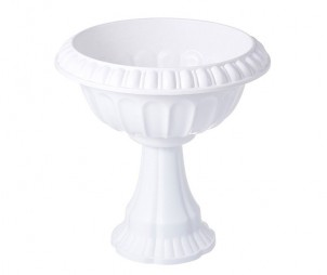 White Outdoor Flowerpot
