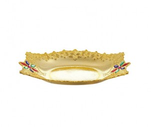 Rectangle Electroplated Gold Tray