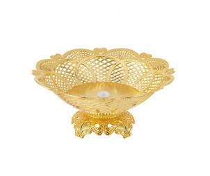 Electroplated Gold Hollow Tray+Base