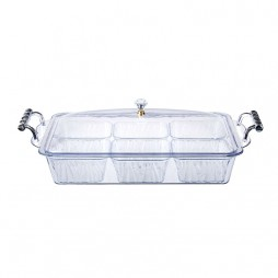 Clear Container+6Bowls+Handle